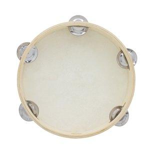 Educational Musical Tambourine brinquedos para crianças de couro falso tambor Hand Held tinir