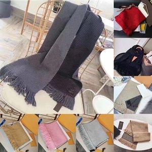 Con la caja Bolsa de la compra Recibo Top bufandas de calidad para las mujeres caliente para hombre de la bufanda del invierno de lujo Pashmina manera imita lana de cachemira bufandas 20ss