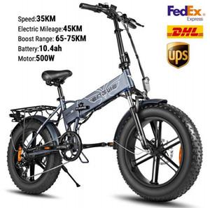 US STOCK bici elettrica 48V 500W elettrico pieghevole bicicletta Fat Tire e Mountainbike Off Road High Speed Scooter elettrico W41215024