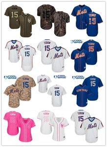Personalizzati NY New YorkMets 15 Tim Tebow jersey baseball Mets di usura di baseball del pullover di uomini donne giovani