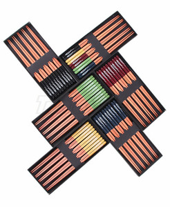 деревянные палочки для еды набора 5 пар заостренных палочек, обычно используемых в домашнем использовании и коробку 23cm ужин палочек