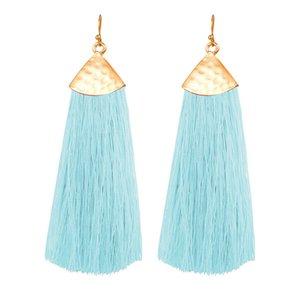 Euramerican Long Tassel Earrings Retro Boho Metal Earrings Fashion and Colorful for Women Girls LL@17