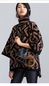 2020 dames lettre pull de cachemire F à double automne et l'hiver pull en tricot de haute qualité blouse col haut luxe design femme