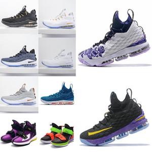 2020 zapatos de primera calidad 15s baloncesto de los hombres de Igualdad Inicio Lakers Violeta de Oro James zapatillas de deporteLebron 15 deportes zapatillas de deporte Tamaño 40-46 # Y4r1