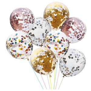 100 12 inch golden confetti party balloons gold confetti balloons party decoration, wedding celebration, christmas, halloween decoration