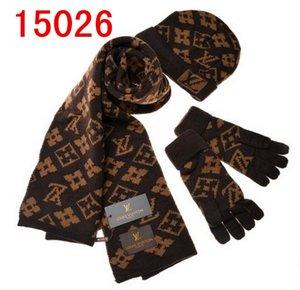 Vendita calda di nuovo modo di inverno e l'autunno cappello caldo tappo di alta qualità degli uomini donne sciarpa cappelli lavorati a maglia cappelli, sciarpe guanti Sets