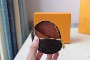 rotonda moneta borsa progettista Zippy mini raccoglitore dell'organizzatore del sacchetto di alta qualità di modo delle donne Holder Charm Key Card