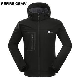 Refire engrenagem Inverno térmica Soft Shell Camping Velo Jackets Men Quente Windbreaker Outdoor Caminhadas Jacket Coats Hunting Clothing