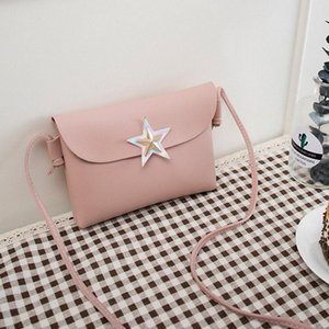 Messenger Bags For Women 2018 New Mini Korean Style Fashion Flap Leather High Quality Shoulder Bag Star Decoration Crossbody Bag Cross 3GFT#