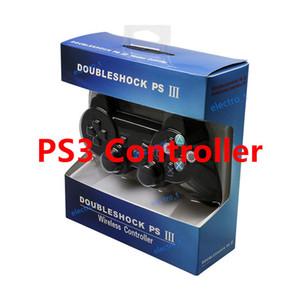 PS3를위한 더블 쇼크 3 무선 컨트롤러 블루투스 콘솔 게임 패드 소매 패키지 게임 컨트롤러와 역 3 조이스틱 플레이