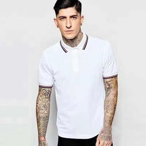 England Men Classic Polo Shirt Striped Collar White Green Short Sleeve London Polos Para Slim Fit 2020 Summer New England Casual T-Shirts