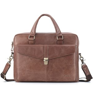 2021 Leather Cow Handbag Computer Genuine Business Briefcase Men's For Work Inch Men 14 CrossBody Laptop Real Bag Luxury Nrlox