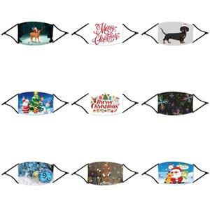 Pollution de l'air Visage de Noël MaskSports Respirant Filtres à charbon Vélo poussière Smog protection moitié visage néoprène Noël Masque PM2,5 Ma # 61033