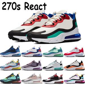 270S Reagir triplos pretos brancos reais homens, mulheres vermelho que funciona azul vazio Bauhaus Cactus Jack arte geométrica fantasmas sneakers multi-cor shose