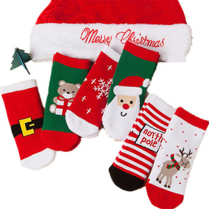 2020 Christmas Kids socks new baby boy girl Summer socks children cotton stocks good quality Cotton Soft Socks Baby Candy Color
