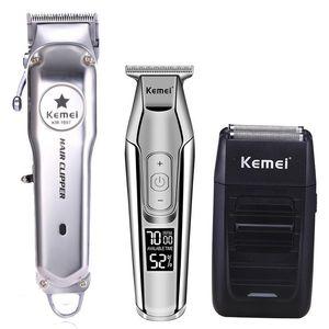 Lectrique Cheveux Máquina 2024 Professionnel ID De Tondeuse metal Kemei Kit Tout recarregável Tondeuse Cheveux Coupe En Igqxf