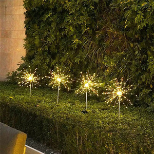 180 LEDs Outdoor LED Solar Fireworks Lights Waterproof String Fairy Light For Home Garden Street Christmas Decoration