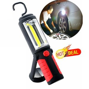 Super Bright LED Garage Work Lamp Hand-held Lighting for Automobile Maintenance and Emergency Preventing with Magnet and Hook