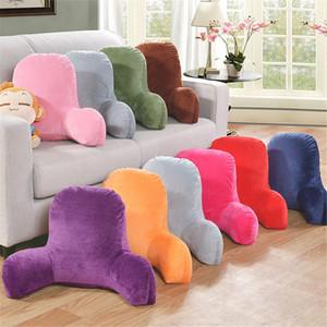 Lumbar pillow Plush Big Backrest Reading Rest Pillow Lumbar Support Chair Cushion with Arms Corduroy cushion lumbar pillow MX200716