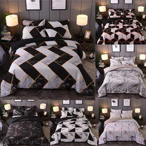 Marble Bedding Set Black White Geometric Nordic Simple Bedding Simple Queen King Sizes Duvet Cover Pillowcase 3 pieces polyester