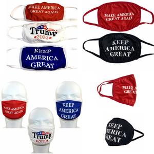 atout Washable masques imprimé élection USA 2020 produit atout couverture de la bouche en plein air vélo partie de protection anti-poussière masque FFA4339
