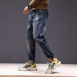 Harlan moda de moda de la personalidad suelta los pantalones vaqueros pantalones vaqueros espíritu nuevo hombre guapo novio de regalo 4ON7u jóvenes y regalo de los hombres