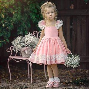 Clearance Excelent New Summer Mesh Toddler Baby Girls Ruffles Sleeveless Backless Straps Lace Sundress Clothe Dress Z0205