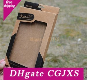 Universal Kraft Brown Paper Box Retail Packaging Caixas para 9 0,7 Ipad 6 Air 5 6 Ar2 5 3 4 7 Capa de Couro 0,9 Mini 2 Pu
