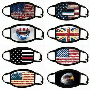Baskı toz geçirmez eksikliği Maskeler Amerikan Seçim Malzemeleri Evrensel İçin Erkekler Kadınlar Amerikan Bayrağı Parti Maskesi # 735 Maskesi