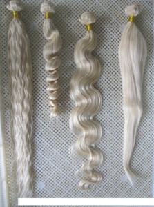 A Wholesale #60 Platinum Blonde Weave Bundles 7a Unprocessed Virgin Malaysian Curly Weave Hair Human 100g Remy Hair Extensions 30 &Quot