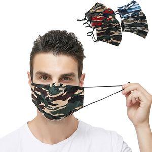 DHL Бесплатной доставки дизайнер маска для лица Взрослых охладиться Unisex Empty водного пути Цвета РМ2,5 анти смога камуфляж моющихся масками ватной пыль