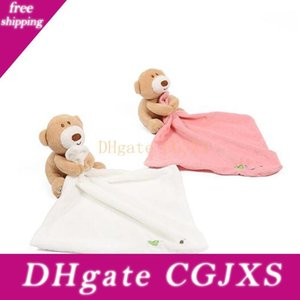 Ins Cute Bear Baby Appease Towel Comforter Bibs Infant Plush Stuffed Washable Blanket Soft Baby Bibs Towel Toys 24 *24cm 3colors