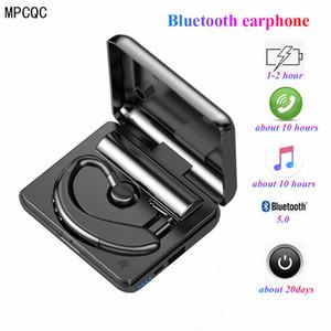 Y10 TWS Bluetooth 5.0 écouteurs stéréo sans fil Crochet d'oreille sport Casque mains libres au volant d'affaires avec un casque microphone