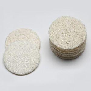 5.5cm / 6 cm / 7 cm / 8 cm Roud natural de lufa cara del cojín de maquillaje Quitar Exfoliante y la piel muerta Ducha lufa
