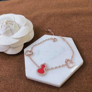 Fashion high quality female hand jewelry classic gourd shape brass gold plated diamond pearl bracelet bracelet bracelet