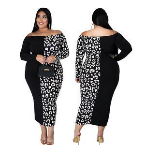 Плюс размер XXL-6XL платья Женщины Elegant Maxi платье Новая мода Sexy Bodycon плеча Vintage партии Оптовая Dropshpping