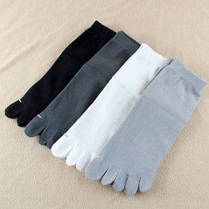 3 Pairs Men Business Five Toe Socks Four Seasons Mid Tube Gentlemen Cotton Five Finger Socks Soild Color Male Business