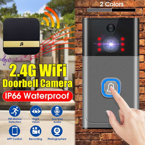 PIR Motion Detection Home Security Wireless WiFi Visual Doorbell Camera Two-way Intercom Night Vision Doorbell With Indoor Chime