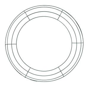 Eisen Blumenkranz-Draht-Kranz-Rahmen Draht Herstellung von Ringen für die neue Jahr Valentines Dekoration (14 Zoll)