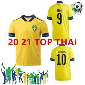 السويد LBRAHIMOVIC JOHANSSON GUIDETTI فورسبرغ BERG LARSSON مسابقة كأس الاتحاد الاوروبي لكرة القدم بالقميص المنزل الأصفر الأزرق بعيدا مخصصة السويدية الجديدة 20