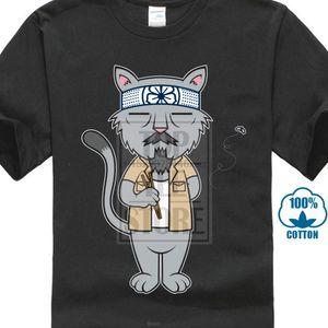 Sr. Meowgi gato Taekwondo camiseta de los hombres de alta calidad de judo Animal camiseta divertida camisetas a la venta de la historieta Tee Shirts de verano
