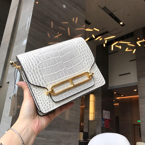 Designer- Himalaya Grain Crocodile Pale Temperament Extremely Simple Wind Woman Package Briefcase Fund
