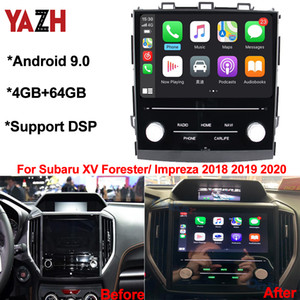 YAZH Car DVD Android 9.0 Multimedia Player For Subaru XV Forester  Impreza 2018 2019 2020 With 4GB 64GB Auto GPS Radio DSP Headunit