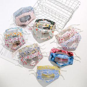 Riutilizzabile Visibile maschera Lip lingua Per Surdomute Viso Viso tappi antipolvere Bocca Maschera Cotone PVC trasparente maschera maschere Sorriso
