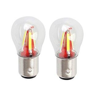 2pcs 4 Filament Super Bright Led 1157 BAY15D P21W 5W Car Brake Light Bulb Auto Vehicle Lamp Yellow red white Car Accessories 12V