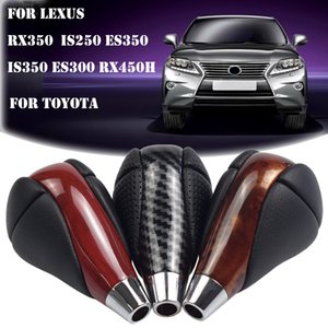 Carbon Fiber Gear Shift Knob Leather Shifter Head For Lexus ES300 ES300h ES330 ES350 GS300 GS350 GS400 GS430 X350 RX450h SC430