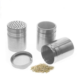Stainless Steel Salt Spice Sugar Pepper Flavour Bottles Shaker Seasoning Cans for Kitchen Cooking and Outdoor Barbecue MY-inf0164