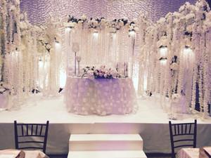orkide dize düğün sahne süslemeleri morsalkım Yapay orkide dize düğün düzenlemesi ortanca yapay çiçek yapay