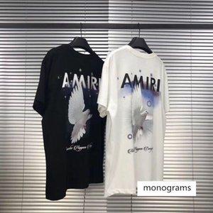 2020SS Taube, Taube, Kran, kurzärmelige High Street T-Shirt, Männer und lose Online-Berühmtheit Frauen, IN lässigen T-Shirt