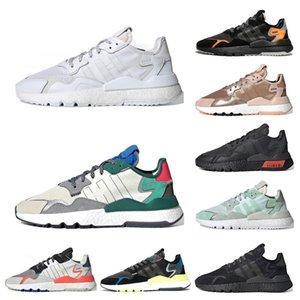 Adidas nite jogger nite Jogger reflektierende Männer Frauen Schuhe triple schwarz weiß grün rot Mens Trainer sports Turnschuhe Größe laufen 36-45